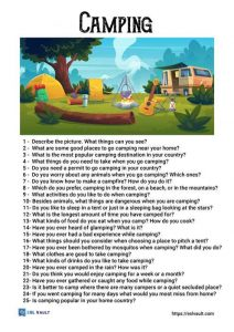 camping conversation questions